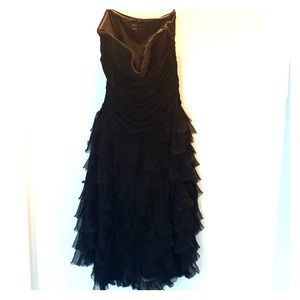 BCBG Black Strapless dress